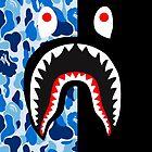 camo blue black bape by deazfedrick