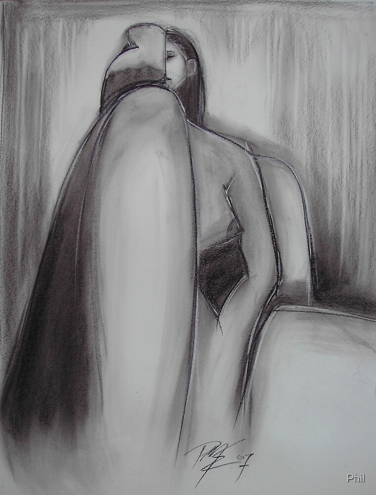 seated figure by Phil