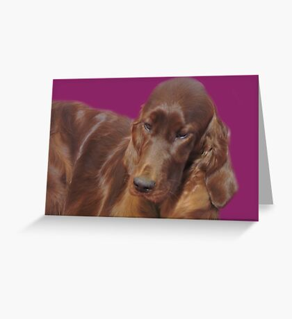 Silky Red Greeting Card
