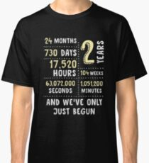 2 Year Anniversary T-Shirt / Cute Gift for Her or Him Classic T-Shirt