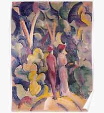August Macke - Couple On The Forest Track Poster