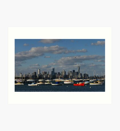 Boats and Buildings Art Print