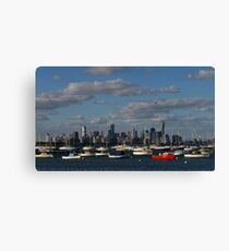 Boats and Buildings Canvas Print