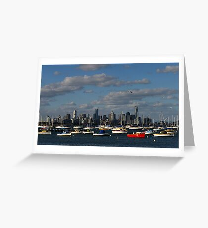 Boats and Buildings Greeting Card