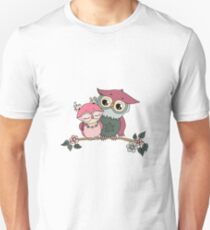 Two cute owls fallen in love Unisex T-Shirt