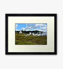 Thermal area in New Zealand Framed Print