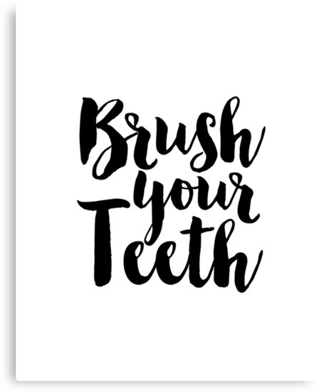 Printable Wall Art Brush Your Teethbathroom Signbathroom Wall Art