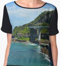 Sea Cliff Bridge in Australia Women's Chiffon Top