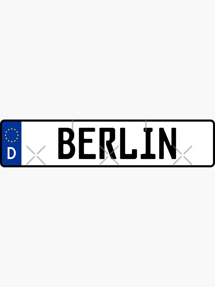 Berlin Kennzeichen by snxworld