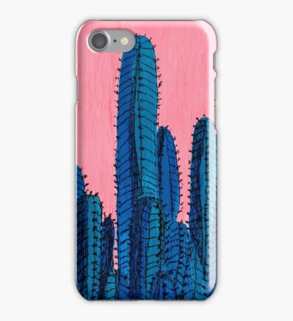 Blue Cactus iPhone Case/Skin