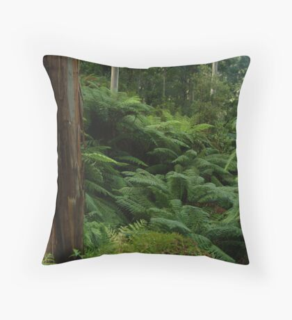 Ferns, Otway Ranges Throw Pillow