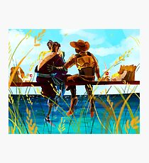 hanzo and mccree's day off Photographic Print