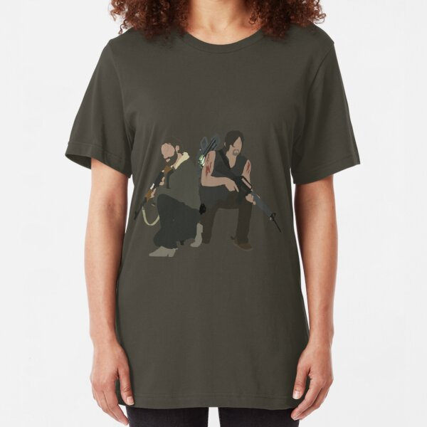Daryl Dixon and Rick Grimes - The Walking Dead Slim Fit T-Shirt