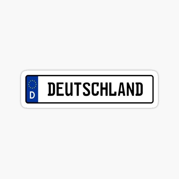 Deutschland Kennzeichen Sticker