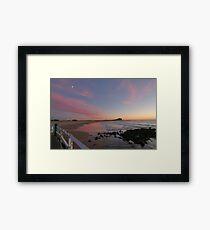 nobbys beach  Framed Print