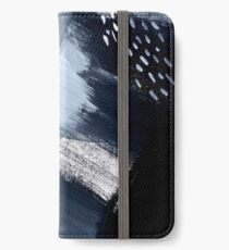 Black and White Abstraction iPhone Wallet/Case/Skin