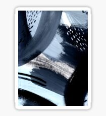 Black and White Abstraction Sticker