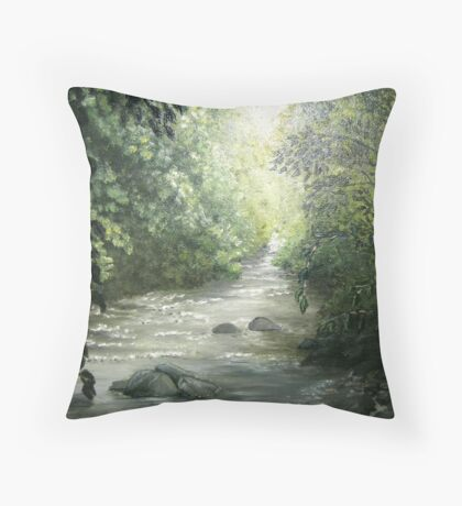 Lickle icy downstream Throw Pillow