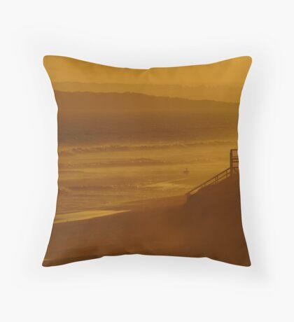 Wave Rider,13th Beach Throw Pillow