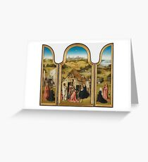 Bosch, Hieronymus - The Adoration Of The Magi Triptych Greeting Card