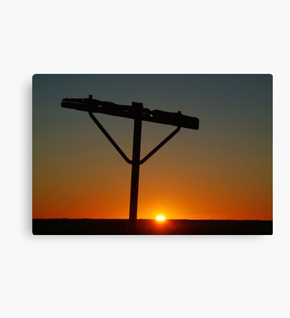 Railway Communication Relic from the Old Ghan Railway,William Creek Canvas Print