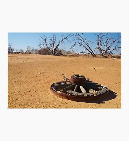 Cart Wheel,Outback Australia,Qld Photographic Print