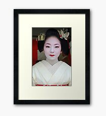 Butterfly Maiko Framed Print