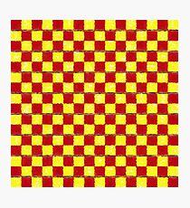 Yellow Chess Photographic Print