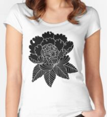 Inverted Peony Women's Fitted Scoop T-Shirt