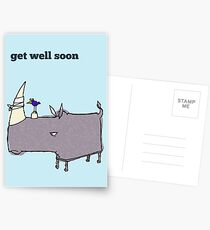 Get well soon card Postcards