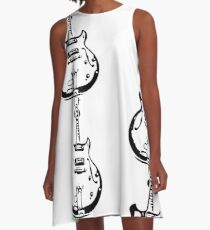 Guitar Stamp A-Line Dress