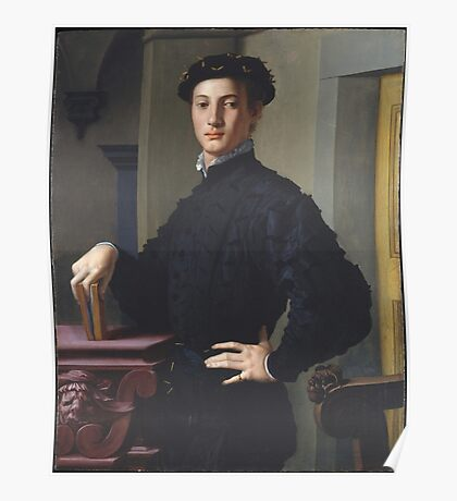 Bronzino - Portrait Of A Young Man Poster