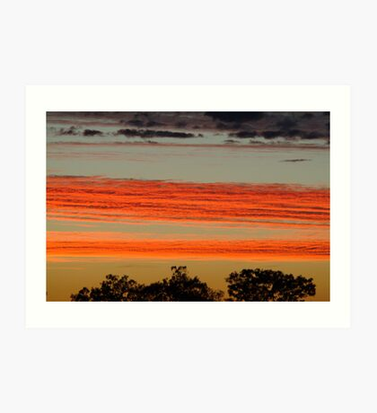 Red Sunrise,Batton Hill, North Simpson Desert Art Print
