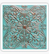 Copper Aged Tin Ceiling Tiles | Texture Sticker