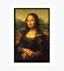 Low-Poly Mona Lisa Art Print