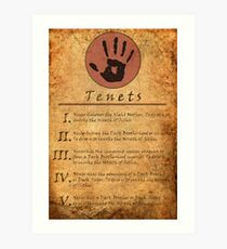 The Elder Scrolls V: Skyrim - Dark Brotherhood Tenents Art Print