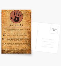 The Elder Scrolls V: Skyrim - Dark Brotherhood Tenents Postcards
