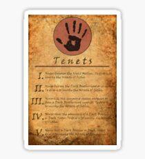 The Elder Scrolls V: Skyrim - Dark Brotherhood Tenents Sticker