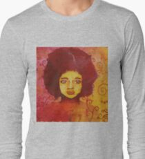 Stained-glass woman Long Sleeve T-Shirt