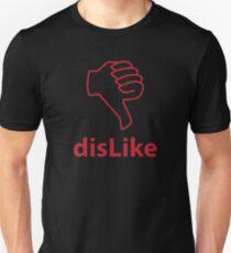 Red Dislike Social Media Thumbs Down T-Shirt