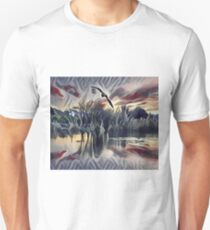 Birds Flying above the Quiet Pond T-Shirt