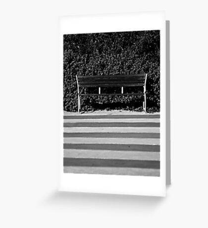 The Empty Bench Greeting Card