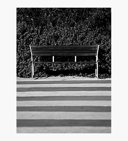 The Empty Bench Photographic Print