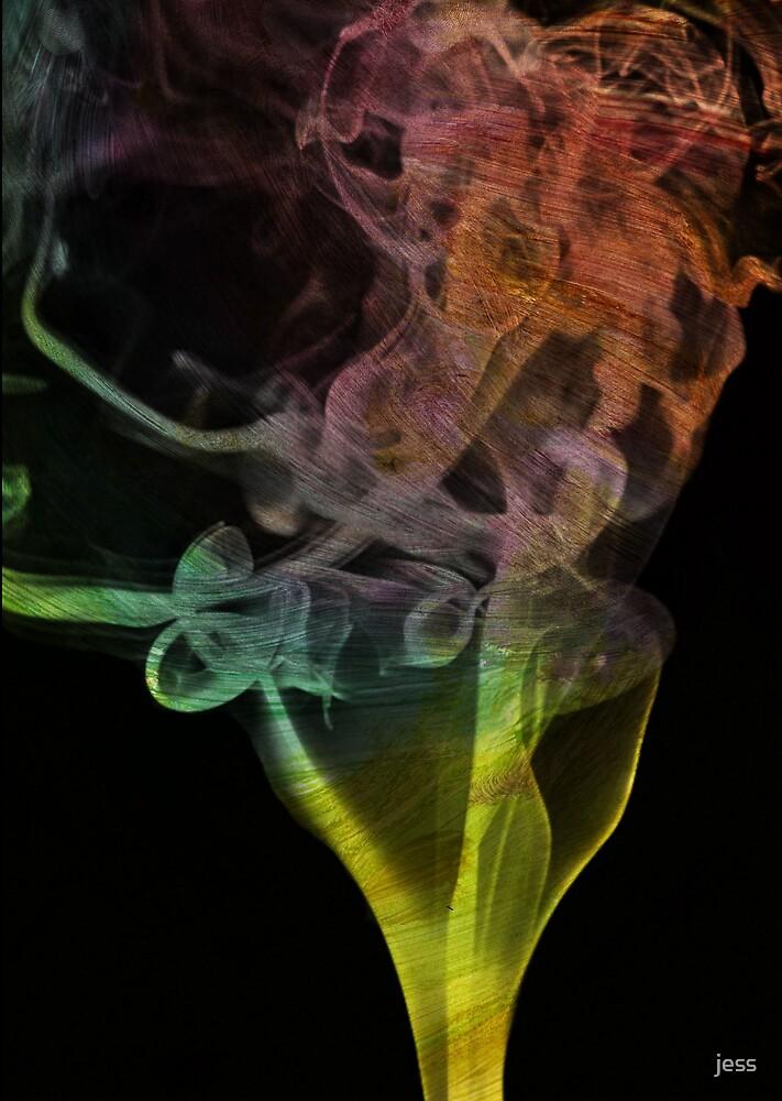 rainbow smoke by jess