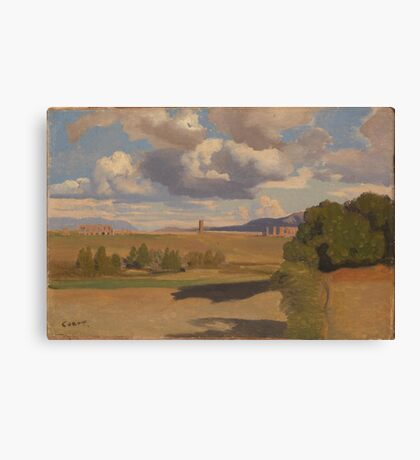 Camille Corot - The Roman Campagna, With The Claudian Aqueduct Canvas Print