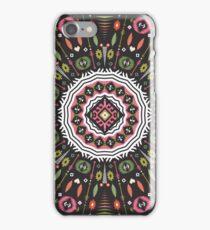 Ornamental round aztec geometric pattern iPhone Case/Skin