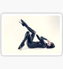 Latex catsuit and Balletheels 01 Sticker