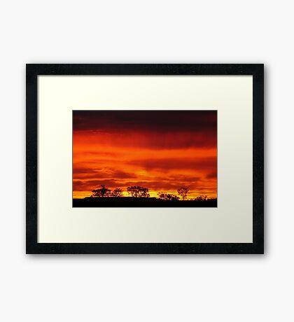 Firey Sunrise, Batton Hill, North Simpson Desert Framed Print