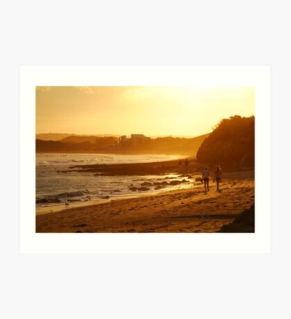 Strolling Torquay Surf Beach,Great Ocean Road Art Print
