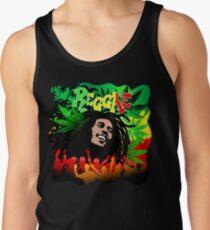 Reggae RastaMan Music Colors Fun and Marijuana Tank Top